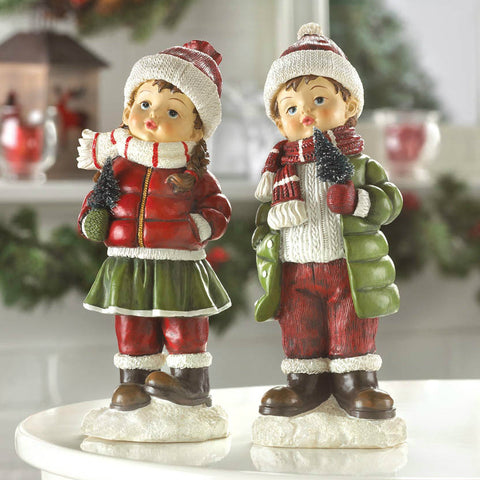 Holly & Noel Holiday Figurines