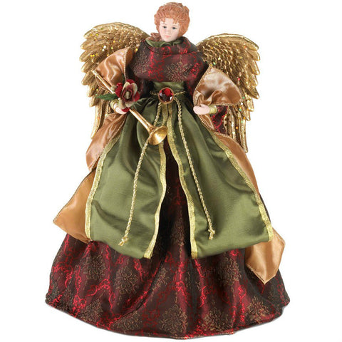 Burgundy Angel Christmas Tree Topper