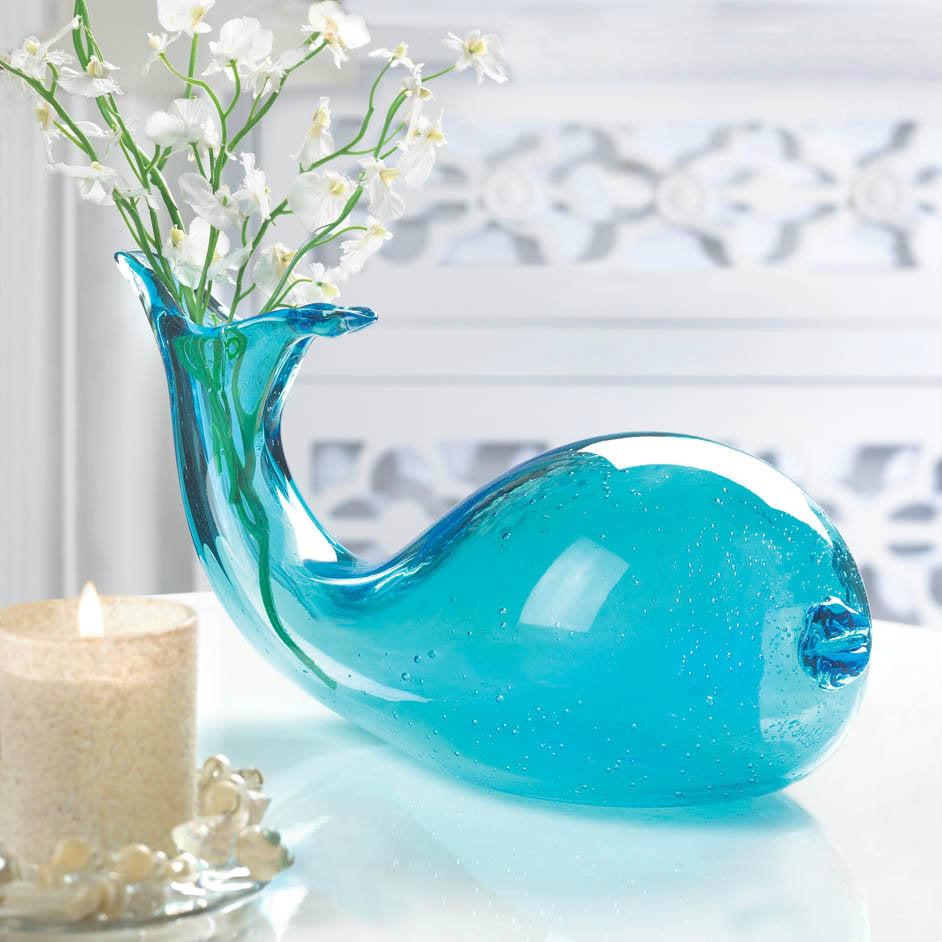 Art-Glass Whale Vase