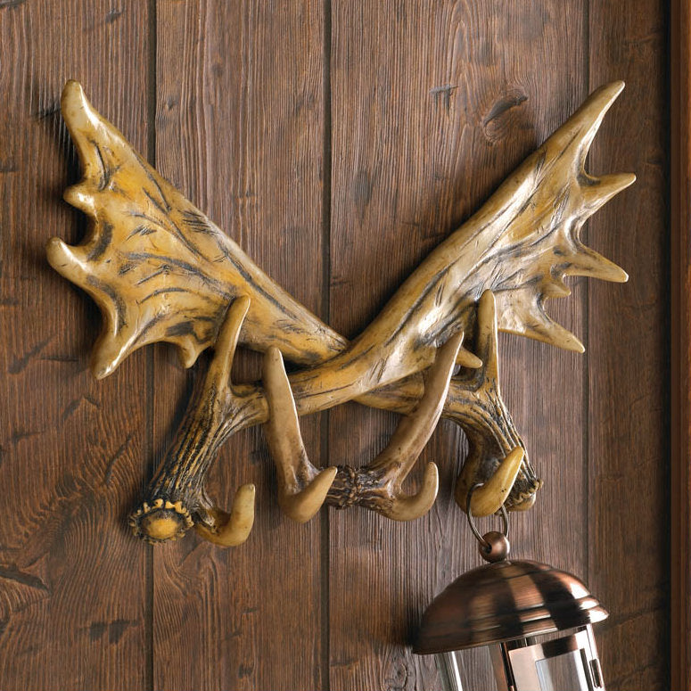 Antler Wall Hooks Plaque