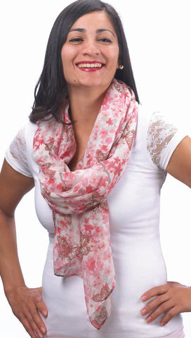 Butterflies and Flowers Fashion Scarf