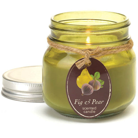 Soy Blend Mason Jar Candle - Fig & Pear