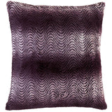 Wavy Purple Ombre Fur Pillow