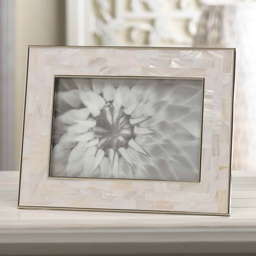 Mosaic Mother of Pearl Picture Frame - 4x6