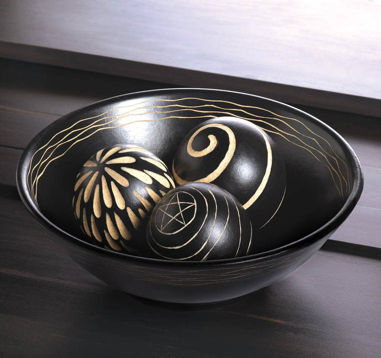 Artisan Deco Bowl And Balls
