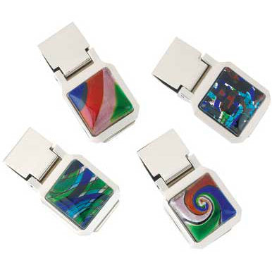 Modern Art Money Clips - 4 Pcs.