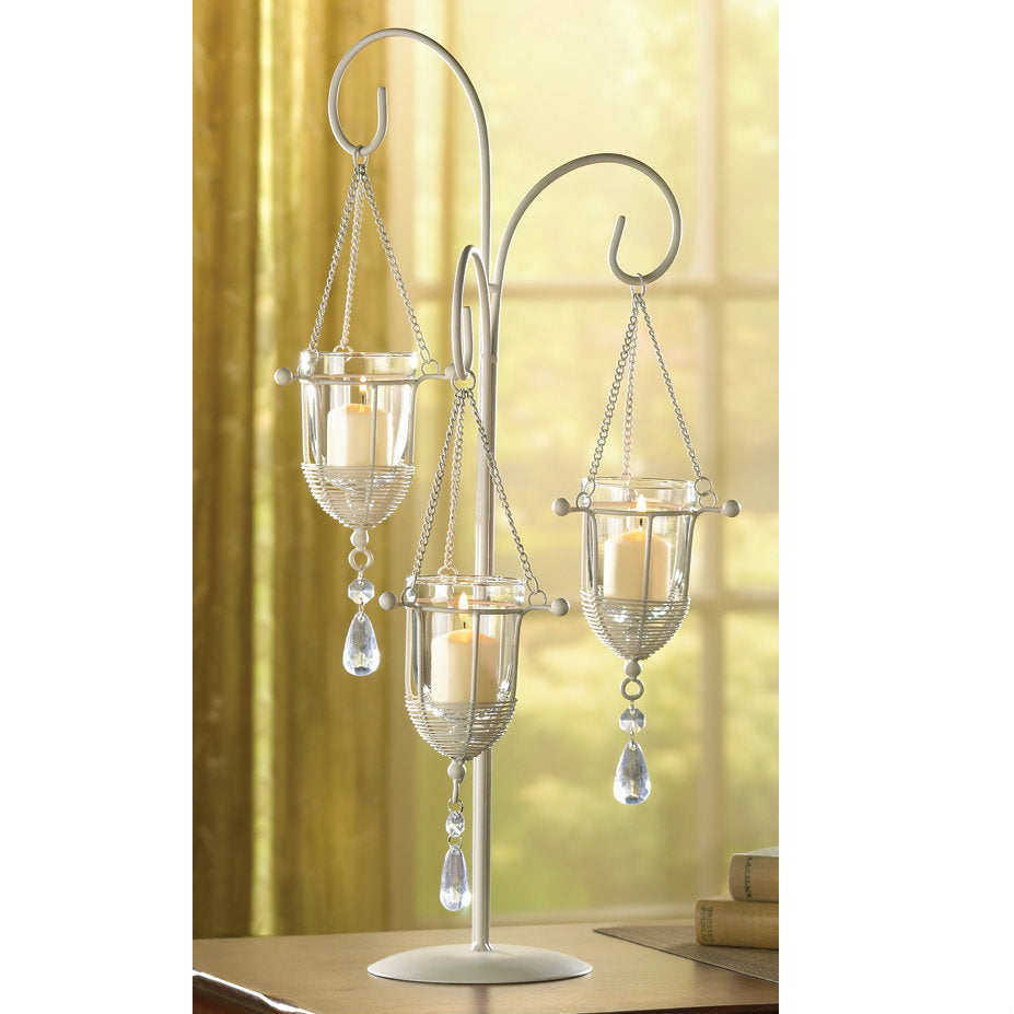 Crystal Drop Votive Holder