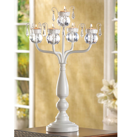 Five-Candle Jeweled Candelabra