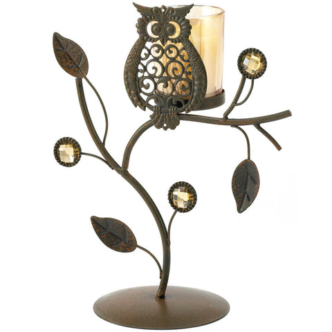 Wise Owl Candle Stand