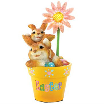 Light-Up Flower Pot Easter Decor