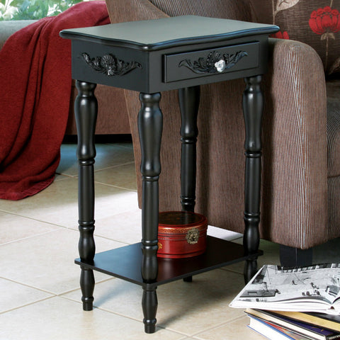 Colonial Carved Side Table