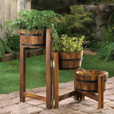 Apple Barrel Planter Ladder