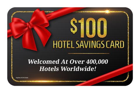 $100 Hotel Savings Card (Complementary with purchase) See details page to receive