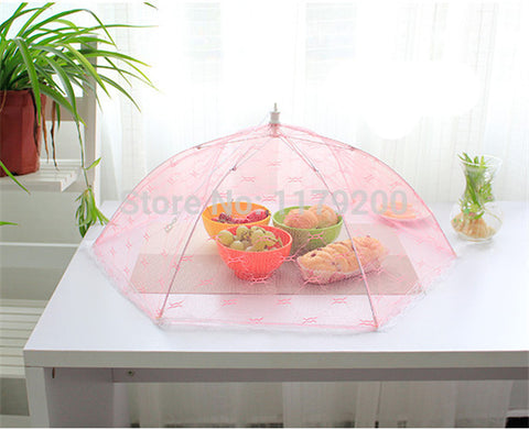 Big Size Anti Fly Mosquito Umbrella Mesh Food Covers Meal Table Cover Kitchen Gadgets Cooking Tools