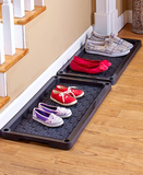2-Tier Entryway Shoe Organized Tray Footwear Self