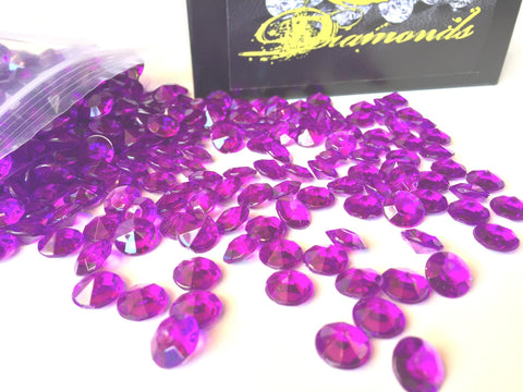 800 Diamond Table Scatter Confetti 4 Carat/ 10mm Purple - Diamond Theme Party Supplies - Wedding Bridal Shower Party Decorations by SolarEscape