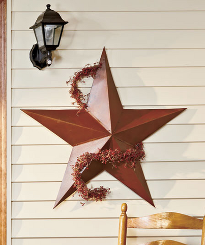 "36"" Rustic Dimensional Barn Star Garden Accent Display Dome Decor"