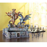 Knights vs. Dragons Medieval Chess Set