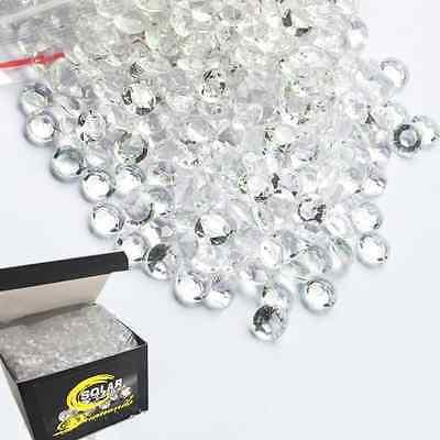 800 Acrylic Diamond Table Scatter Wedding Confetti 4 Carat/10mm Clear Decoration