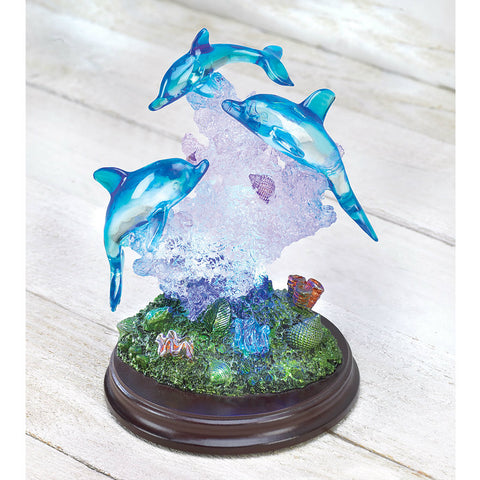 Light-Up Dolphin Sculpture