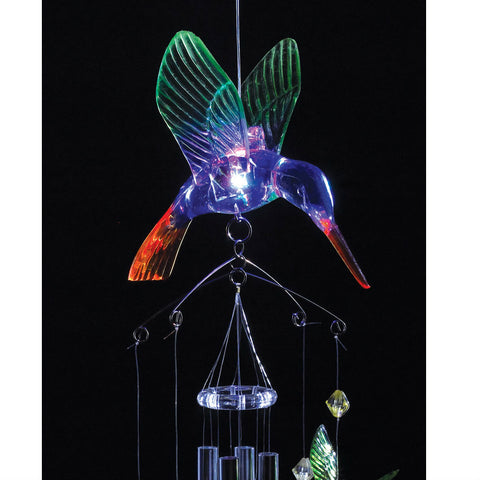 Light-Up Hummingbird Wind Chimes