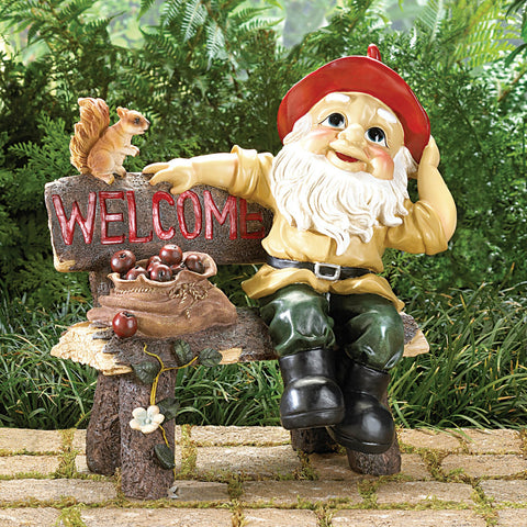 Garden Gnome Greeting Sign