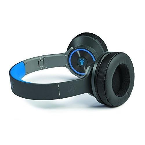 Ncredible Flips - Black & Blue Over Ear Headphones That FLIP Into a Speaker