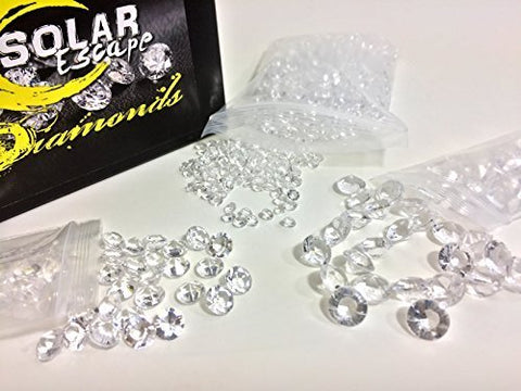 SolarEscape Mixed Diamond Table Scatter Confetti 3 Sizes (4mm/8mm/10mm) Clear -