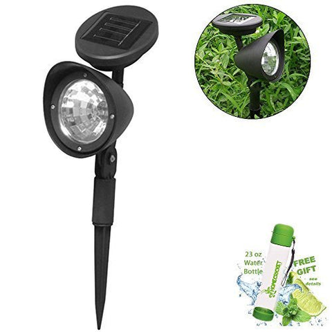 SolarEscape Solar Powered LED Spotlight Outdoor Garden Landscape Lawn Yard Patio
