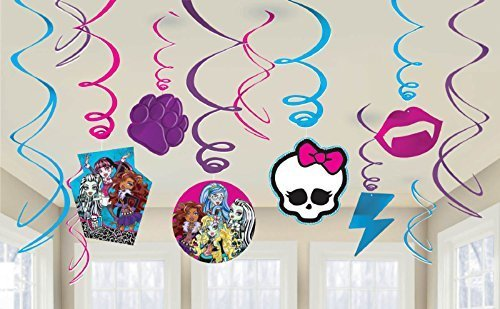 Monster High Swirls 12 Count