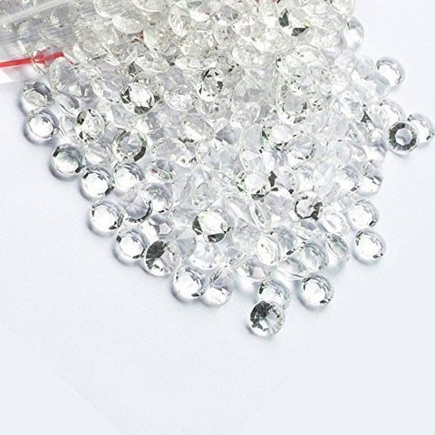 800 Diamond Table Scatter Confetti 4 Carat/ 10mm Clear - Diamond Theme Party ...