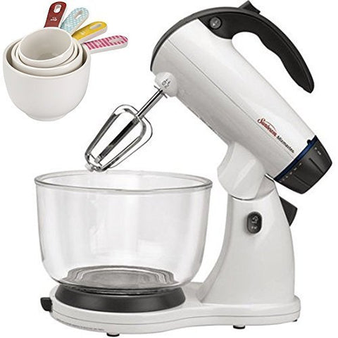 4-Piece Melamine Measuring Cup Set& Sunbeam Mixmaster 12-Speed Stand Mixer 4-qua