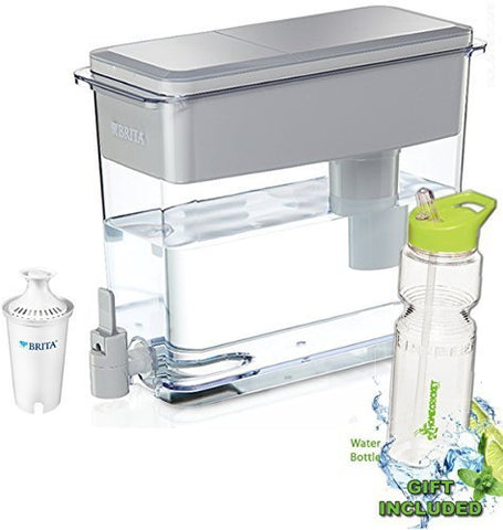 BPA Free Gray Brita 18 Cup UltraMax Water Dispenser with 1 Filter