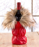 Cozy Red or White Wine Winter Parka Tote