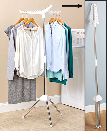 Air-dry Wet Garment Clothes Drying Pole Hang and Dry Rack for Home, Travel or College