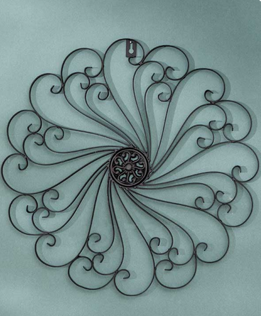 Black Antiqued Finish Iron Wall Medallions Metal Display Wall Art Decor Home Decorations