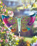 Colorful Glass Butterfly Hanging Hummingbird Garden Birds Watch Feeder