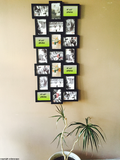 "Decorative Black Plastic Hanging Picture Photo Collage Frame, 21 Openings of 4"" X 6"" Photos"