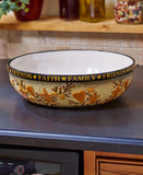 Country Kitchen Hearts and Stars Mixing Serving Bowls or Oversized Serving Bowl