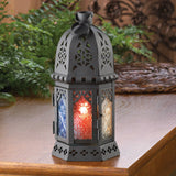 Multi-Colored Hexagon Candle Lantern - 10.5 inches