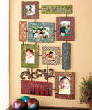 Decorative Faith Family Love Metal Collage Photo Picture Frame