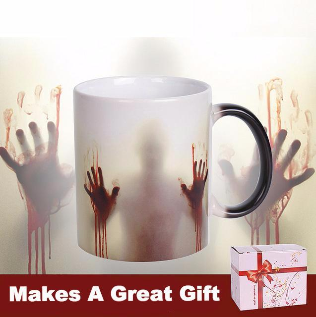 Zombie Coffee Tea Cup Heat Sensitive Color Changing Ceramic Mug