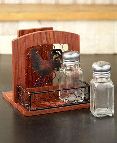 Farmhouse Country Kitchen Rooster Napkin, Paper Towel Holder or Bread Box