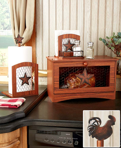 Farmhouse Country Kitchen Star Napkin, Paper Towel Holder or Bread Box