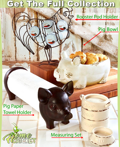 Rustic Farmhouse Kitchen Decorating Pig Bowl