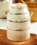 Rustic Farmhouse Kitchen Milk Can Measuring Cups Stackable Set