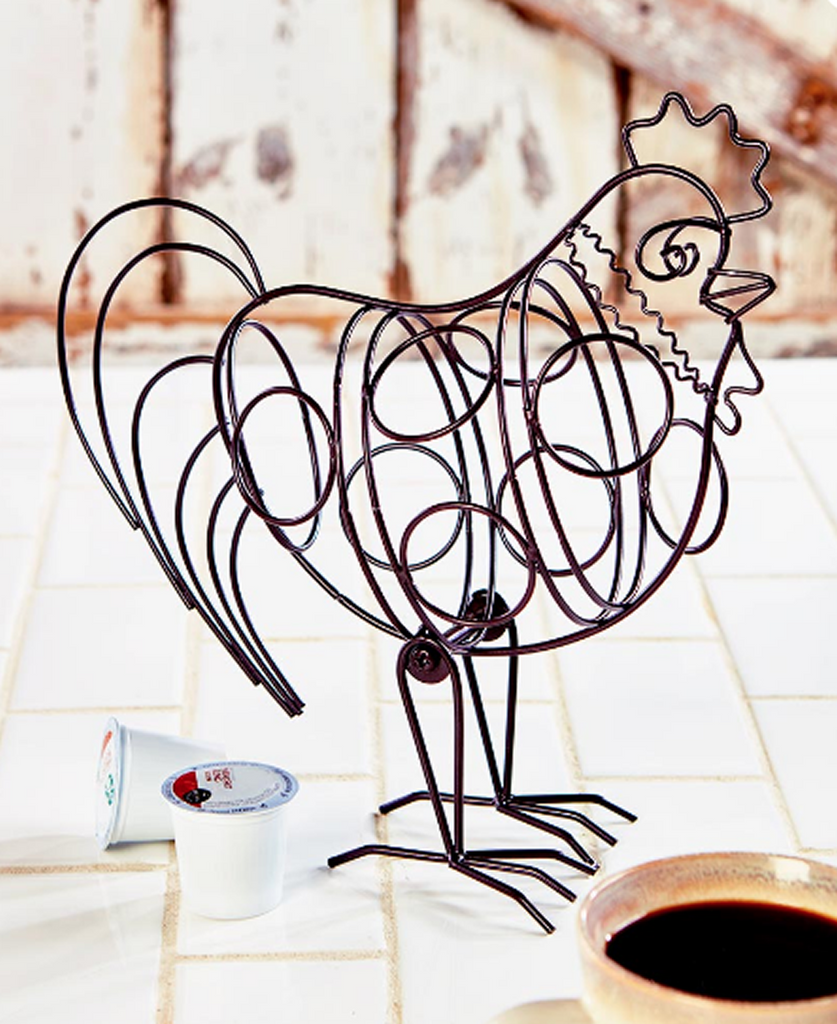 Farmhouse Kitchen Decorating Rooster Pod Holder