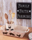 Country Farmhouse Kitchen Cooking Utensils Crock or Baker Collection