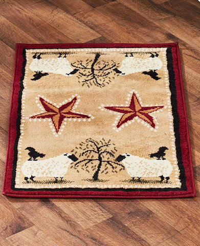 Farmhouse Country Decor Primitive Jute-Backed Rugs And Runners