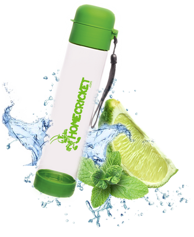 23 oz Clear Plastic Sport Water Bottle BPA Free Lime Green